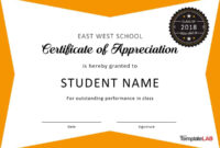 Download Certificate Of Appreciation For Students 04 inside Free Student Certificate Templates