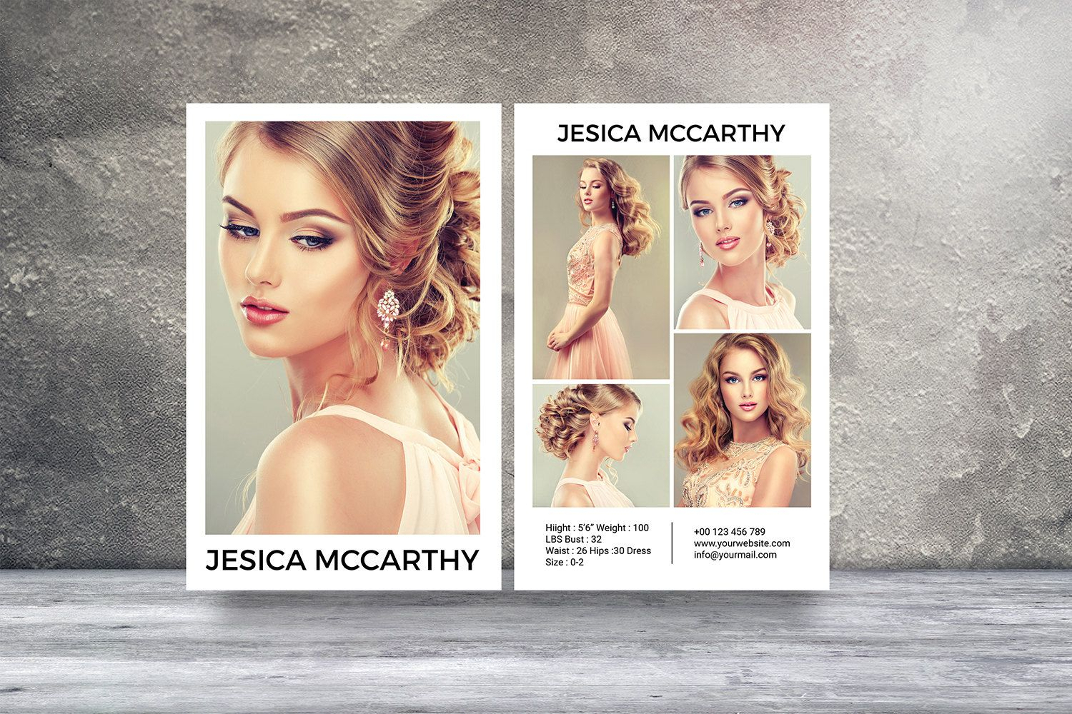 Download Comp Card Template - Atlantaauctionco In Free Comp Card Template