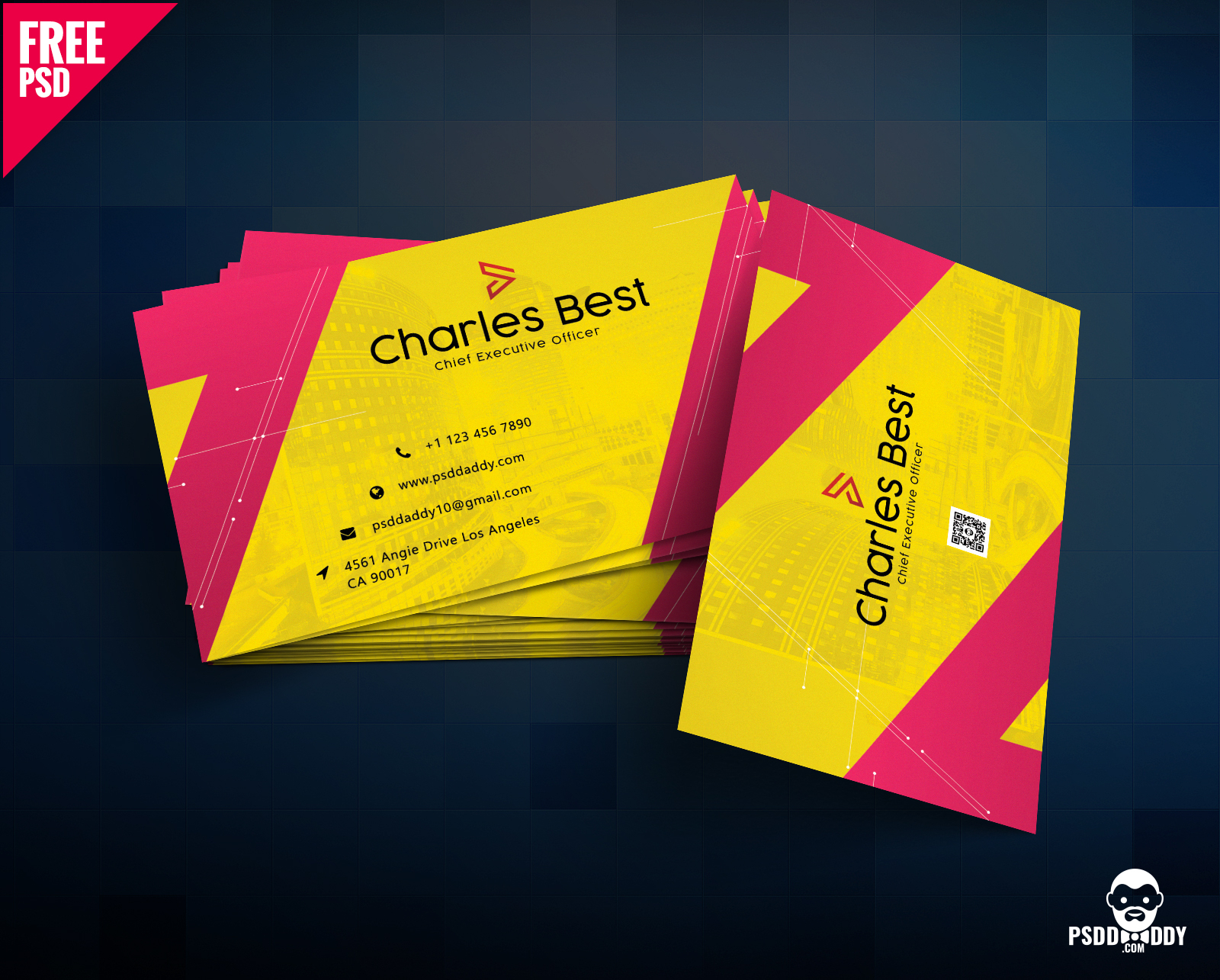 Download] Creative Business Card Free Psd   Psddaddy Throughout Business Card Maker Template
