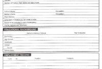 Download Free Blank Resume Forms Pdf | Bio Data, Resume in Free Bio Template Fill In Blank