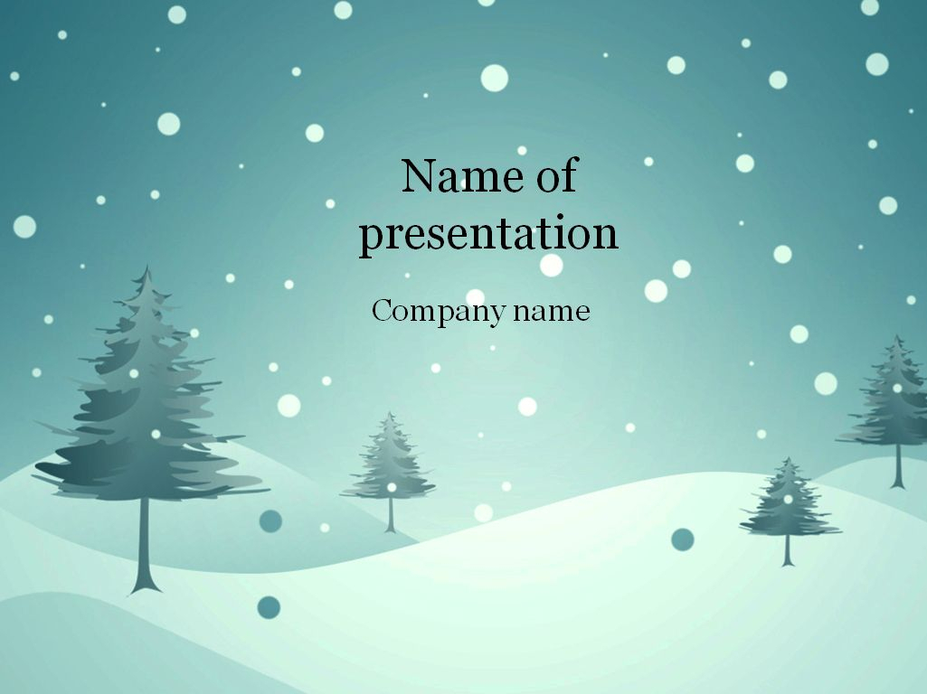 Download Free Blue Winter Powerpoint Template For Inside Snow Powerpoint Template