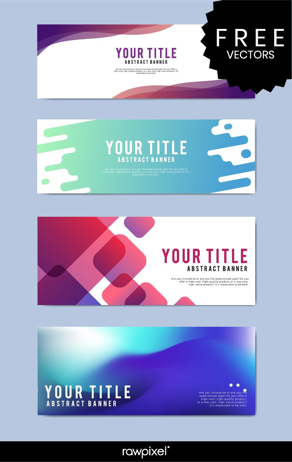 Download Free Modern Business Banner Templates At Rawpixel In Website Banner Templates Free Download