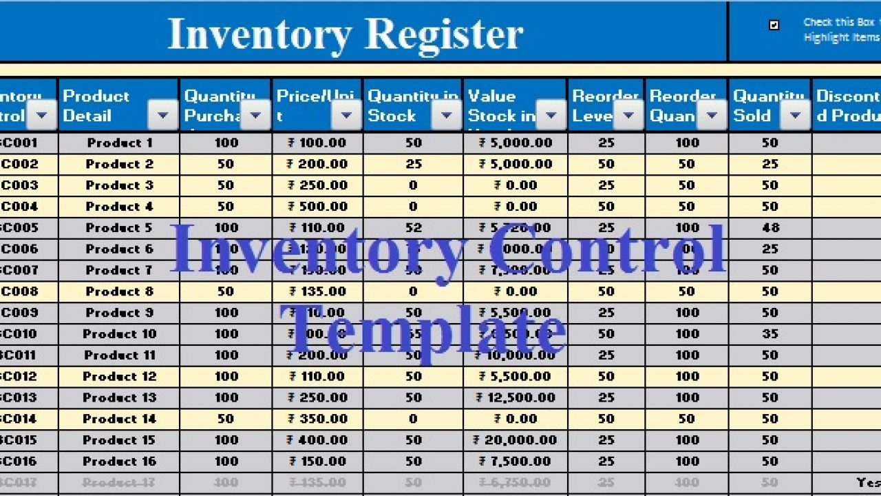 Download Inventory Control Excel Template - Exceldatapro Pertaining To Stock Report Template Excel