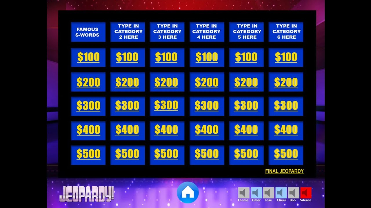 Download The Best Free Jeopardy Powerpoint Template - How To Make And Edit  Tutorial In Jeopardy Powerpoint Template With Score