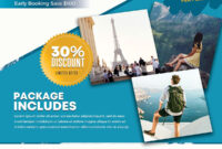 Download Travel Holiday Psd Flyer Template For Free. This with Travel And Tourism Brochure Templates Free