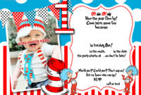 Dr.seuss 1St Birthday Invitation Template- Update | Party with regard to Dr Seuss Birthday Card Template
