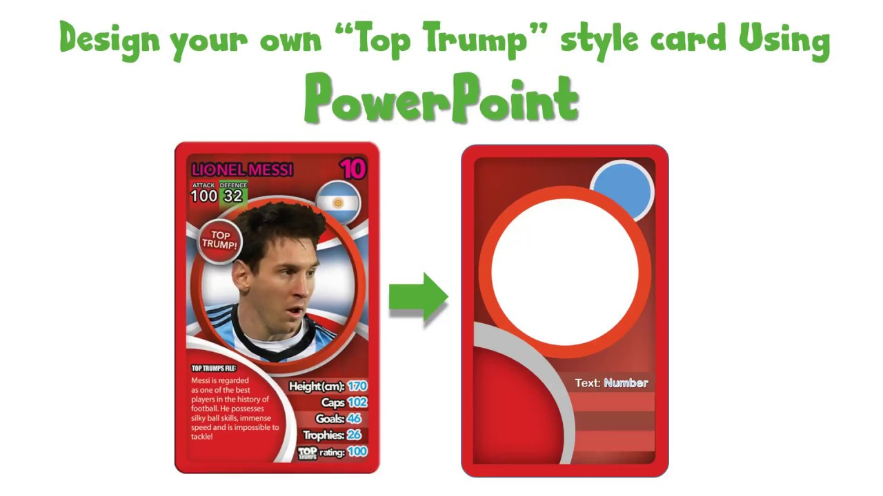 Draw A Top Trump Card Using Powerpoint For Top Trump Card Template