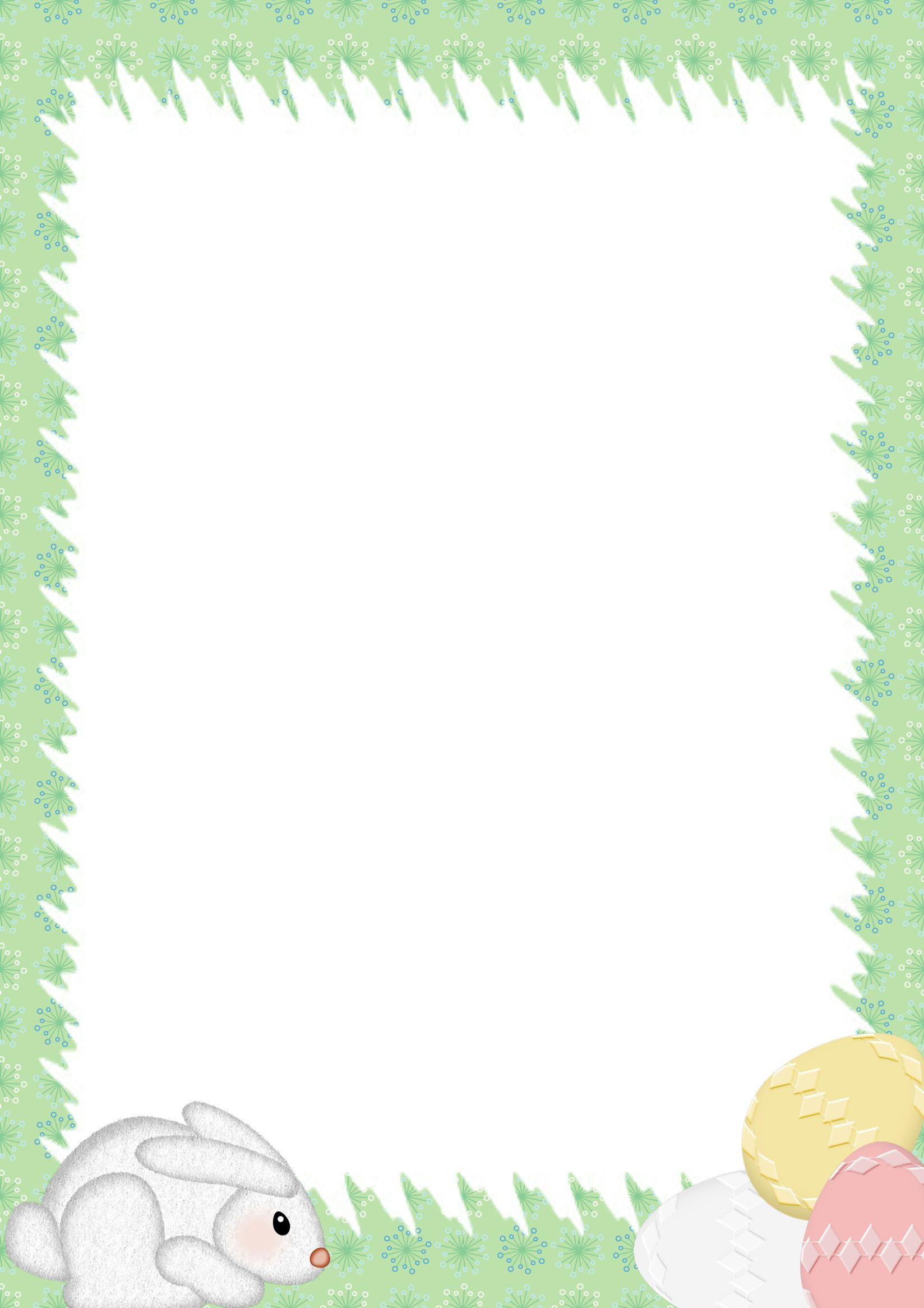 Easter Stationery | Microsoft Word Border Templates | Easter For Bulletin Board Template Word