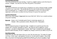 Eastview High School Science Department Lab Report Format in Science Lab Report Template