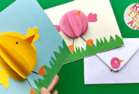 Easy Pop Up Chick Card – 3D Easter Card Diy – Cute & Easy throughout Easter Chick Card Template