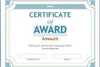 Editable Award Certificate Template In Word #1476 in Blank Award Certificate Templates Word