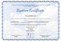 Editable Baptism Certificate Template throughout Baptism Certificate Template Word