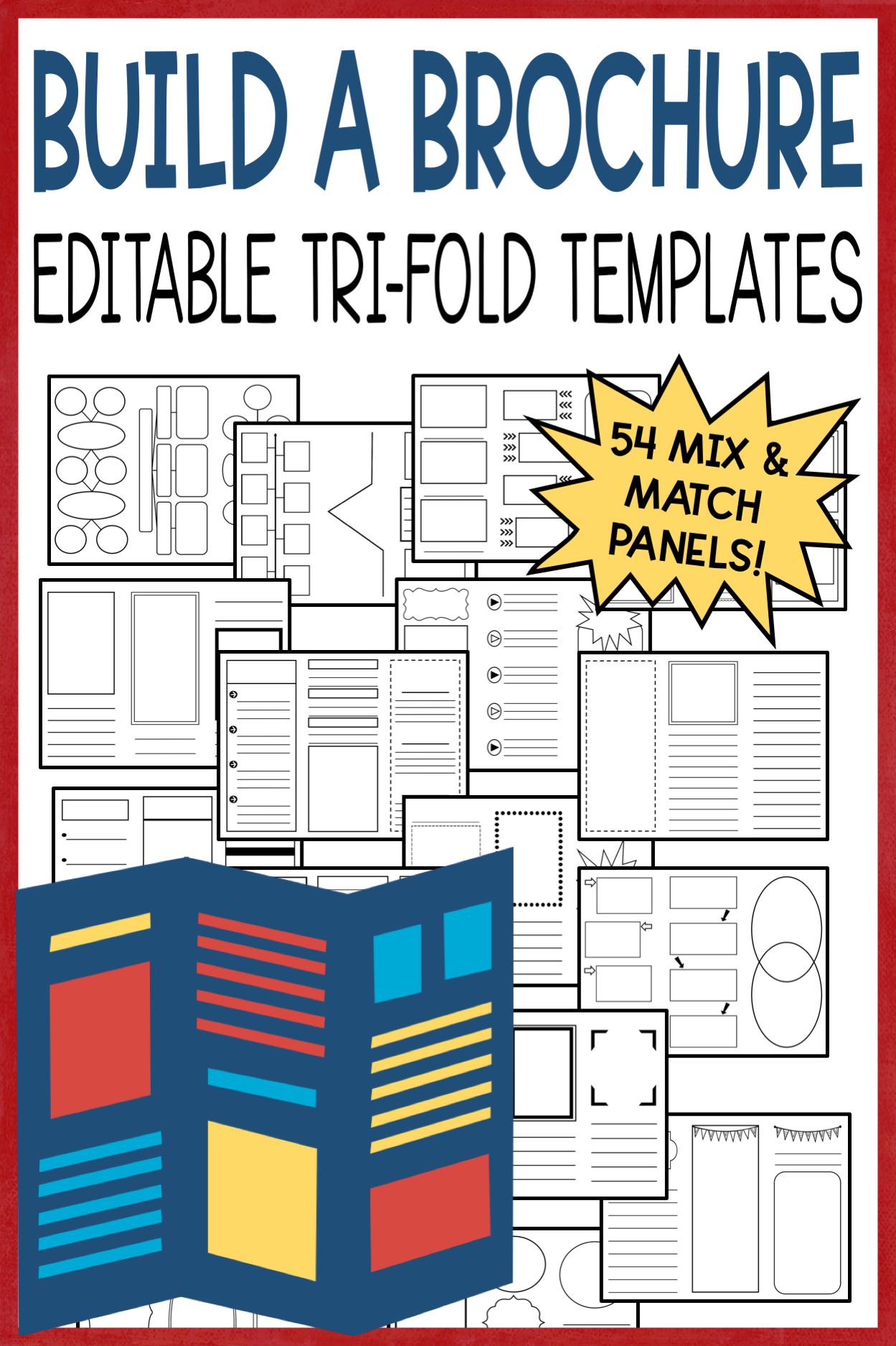 Editable Brochure Templates | Graphic Organizers | Teacher Regarding Brochure Rubric Template
