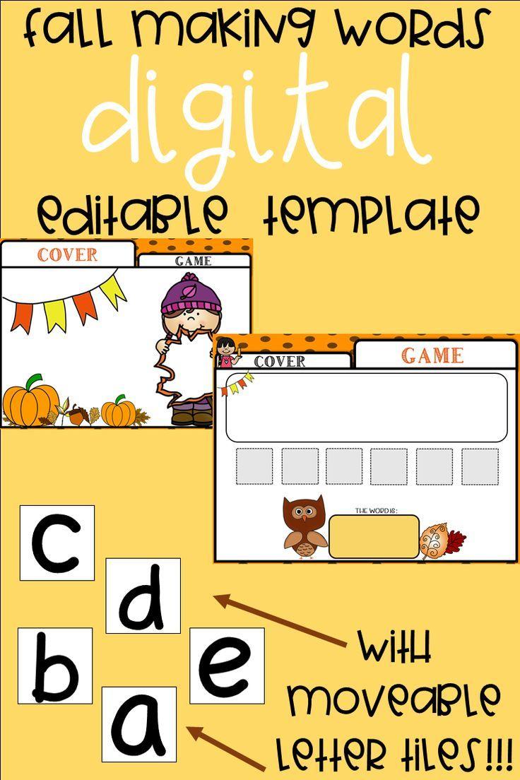Editable Making Words Template | Fall Theme | Making Words Regarding Making Words Template