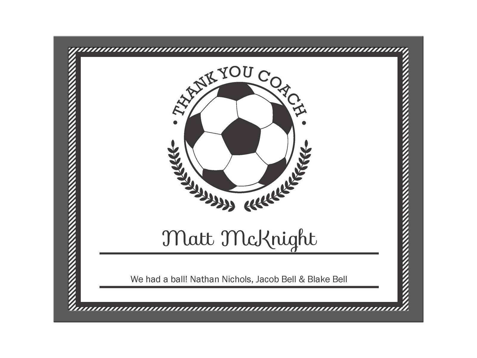 Editable Pdf Sports Team Soccer Thank You Coach Certificate Inside Soccer Award Certificate Template