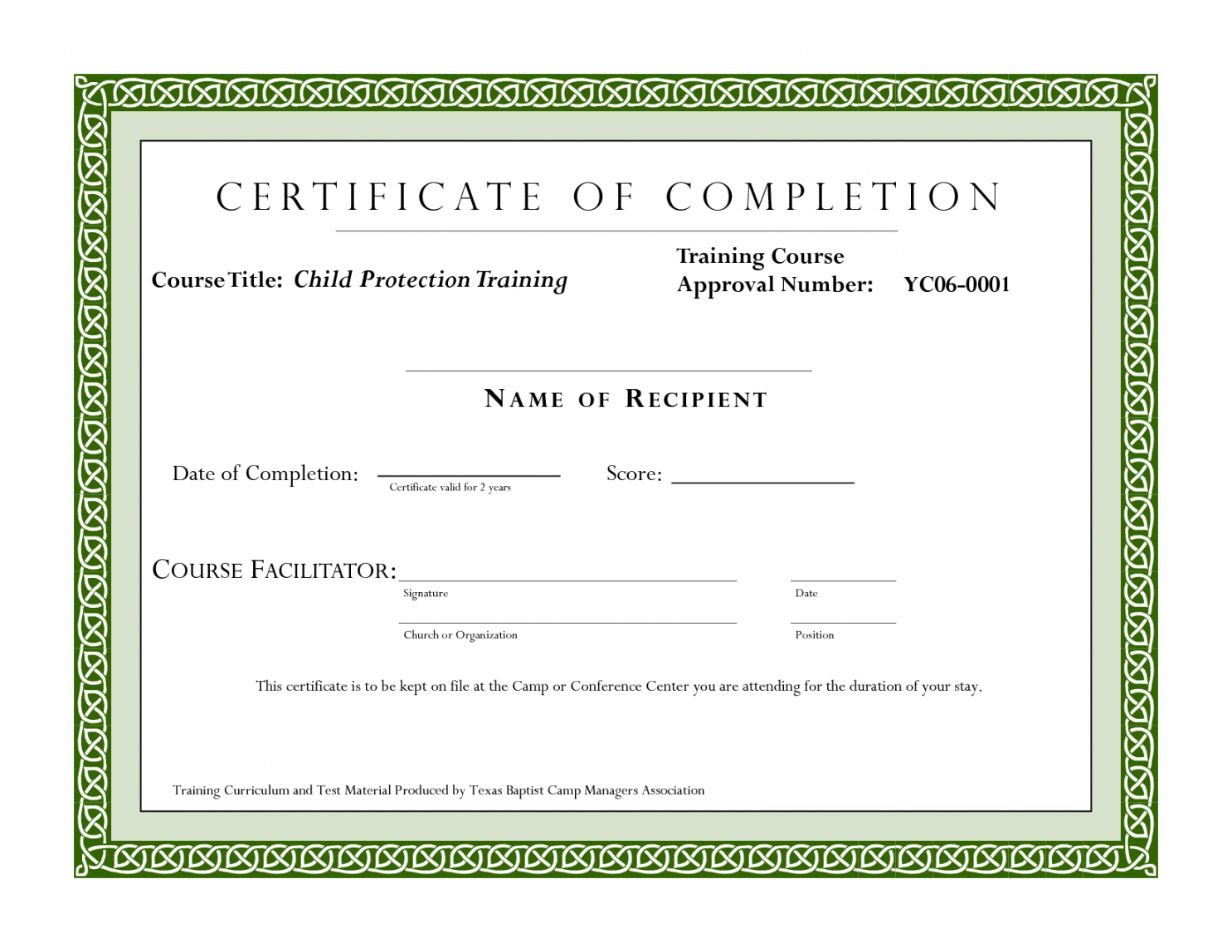 Editable Sample Certificate For Training Completion Pertaining To Fall Protection Certification Template