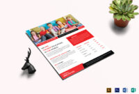 Education & Training Flyer Template intended for Training Brochure Template