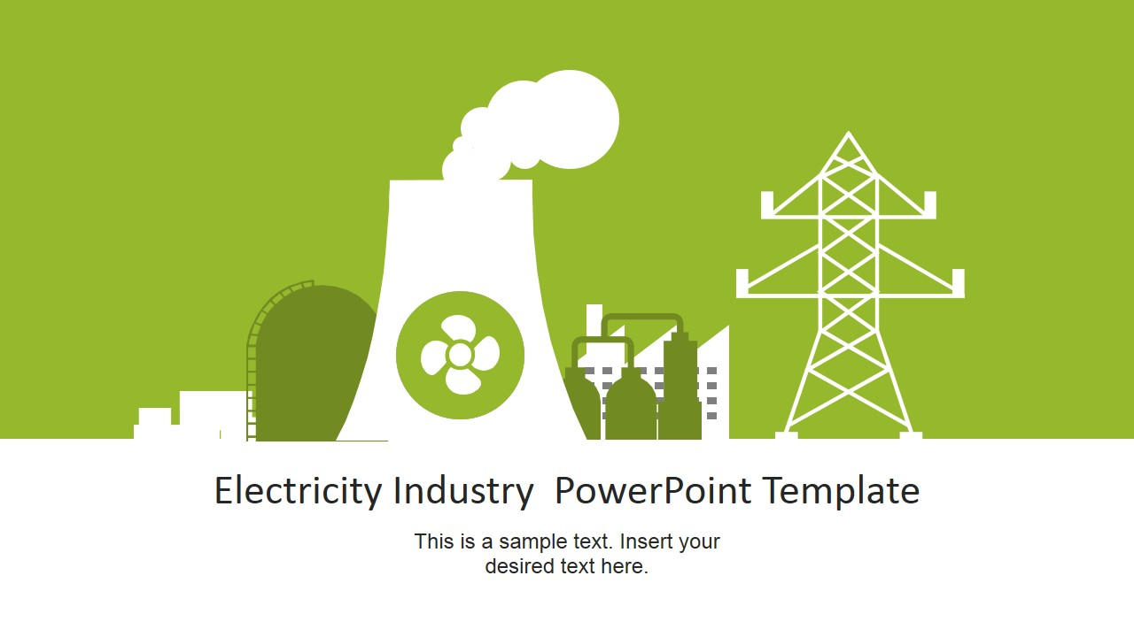 Electricity Industry Powerpoint Template In Nuclear Powerpoint Template