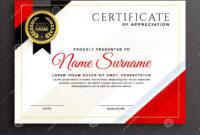 Elegant Diploma Certificate Template Design Stock Vector in Qualification Certificate Template