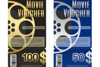 Elegant Movie Gift Voucher Or Gift Card Template with Movie Gift Certificate Template