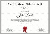 Elementary School Certificate Template inside Certificate Templates For School