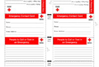 Emergency Card – Fill Online, Printable, Fillable, Blank inside Emergency Contact Card Template