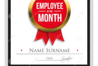 Employee Award Certificate Template Free Templates Design for Manager Of The Month Certificate Template