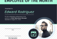 Employee Of The Month Certificate Of Recognition Template pertaining to Employee Of The Month Certificate Templates
