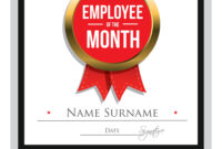 Employee Of The Month Certificate Template for Employee Of The Month Certificate Template With Picture