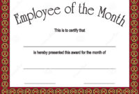 Employee Of The Month Certificate Template Free Download within Employee Of The Month Certificate Templates