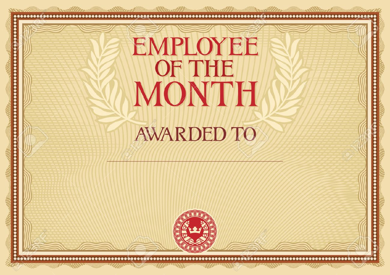 Employee Of The Month - Certificate Template Pertaining To Manager Of The Month Certificate Template