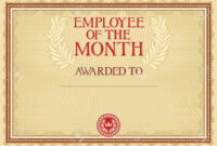 Employee Of The Month – Certificate Template with regard to Employee Of The Month Certificate Template