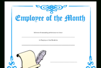 Employee Of The Month Certificate | Templates At for Employee Of The Month Certificate Template