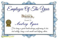 Employee Of The Year Certificate Template Update234 Com for Best Employee Award Certificate Templates