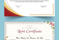 Entry #15Satishandsurabhi For Design A Love Certificate intended for Love Certificate Templates