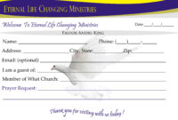 Eternal Life Visitor Card-B | Creative Kingdom Designs throughout Church Visitor Card Template Word