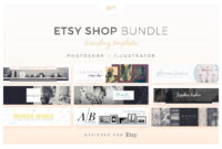Etsy Shop Bundle – Web Elements – Etsy Banners – Etsy with regard to Etsy Banner Template