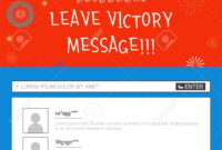 Event Banner Template – Leave Victory Message With Korean Flag intended for Event Banner Template