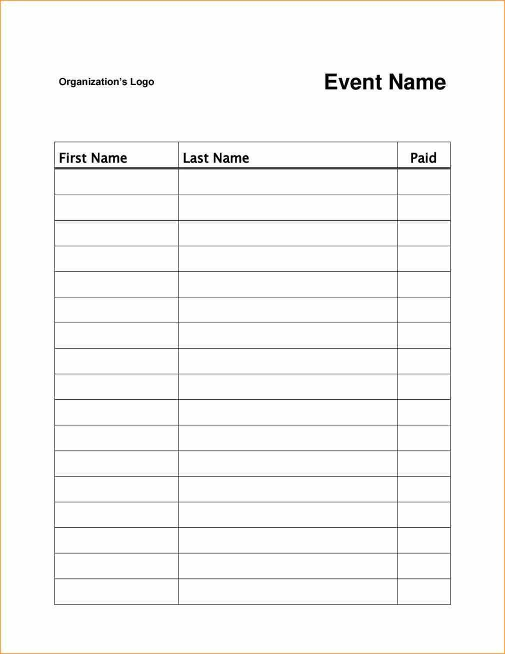 Event Or Class Workshop Forms A Sign Up Sheet Template Word Throughout Free Sign Up Sheet Template Word