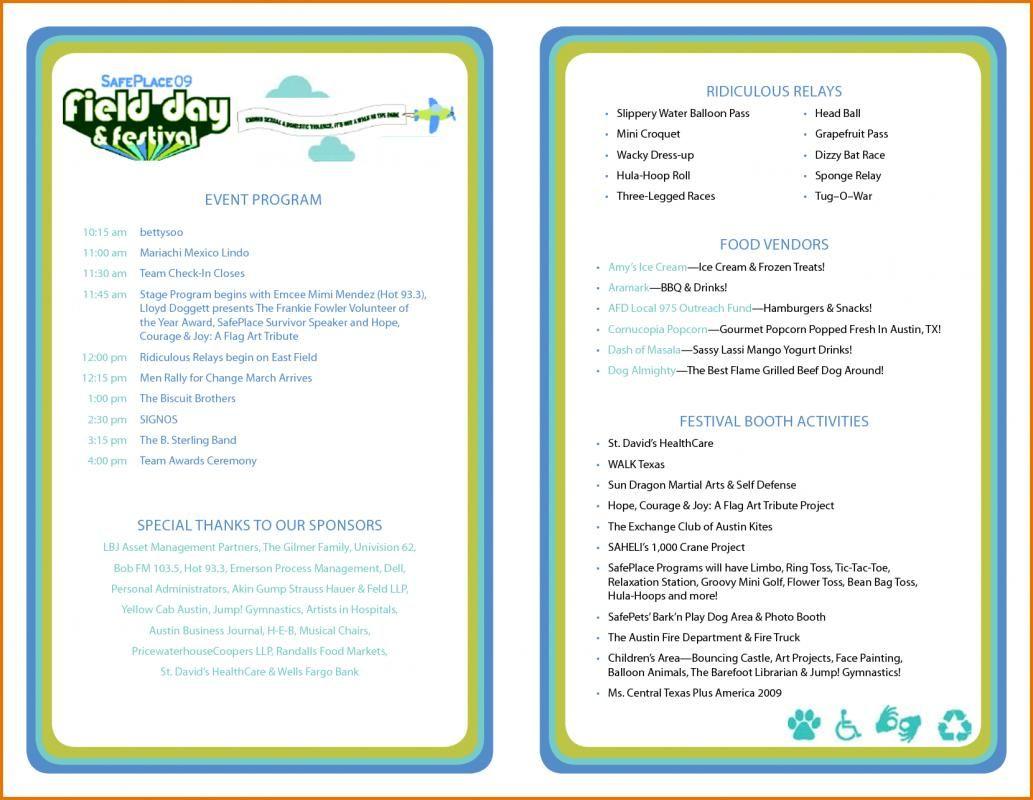 Event Program Template | Template | Program Template Inside Free Event Program Templates Word