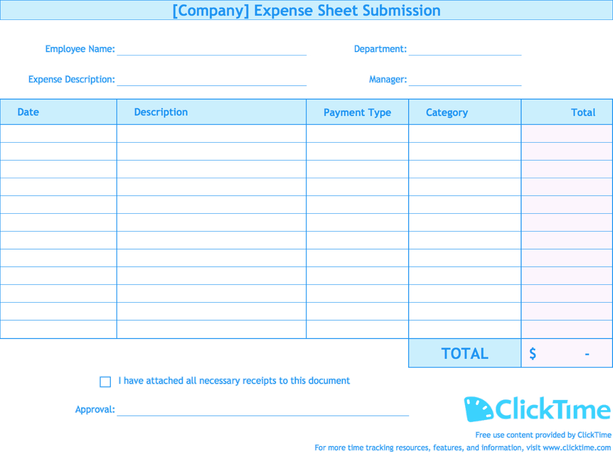 Expense Report Spreadsheet Template - CUMED.ORG