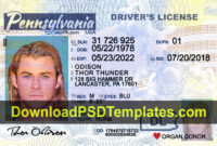 Fake Driving License Templates [Psd Files] in Georgia Id Card Template