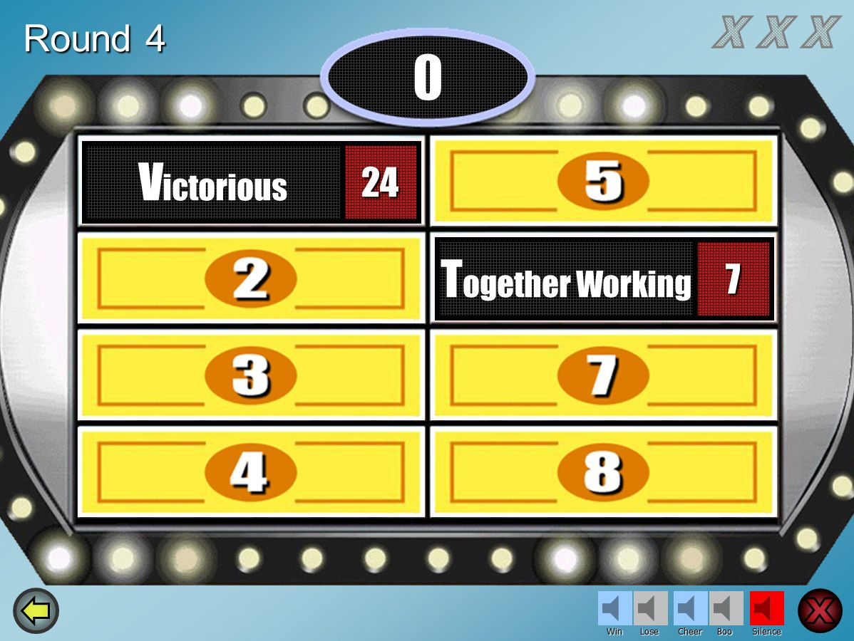 Family Feud - Powerpoint Template Download; Best One I Could With Family Feud Powerpoint Template With Sound