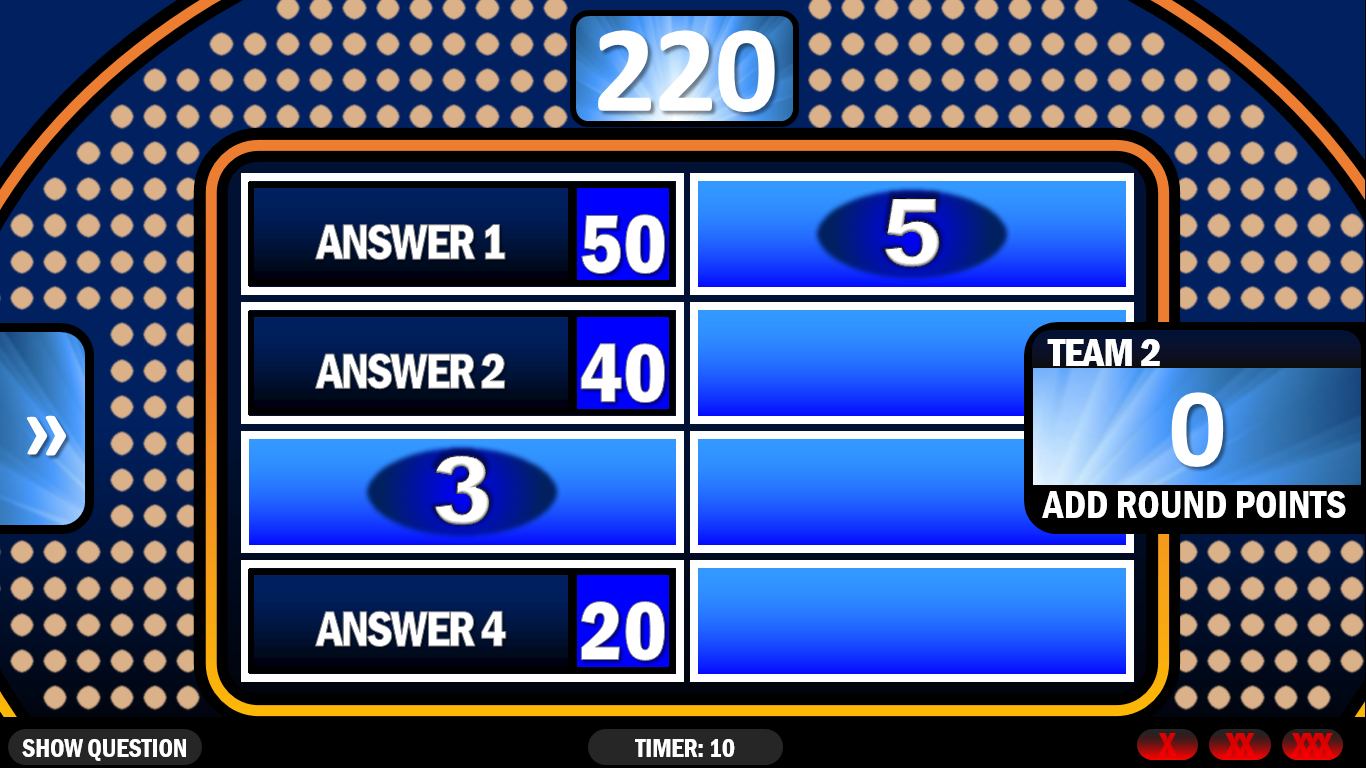 Family Feud   Rusnak Creative Free Powerpoint Games Intended For Family Feud Game Template Powerpoint Free