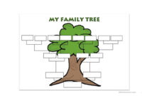 Family Tree Template – English Esl Worksheets with regard to Fill In The Blank Family Tree Template