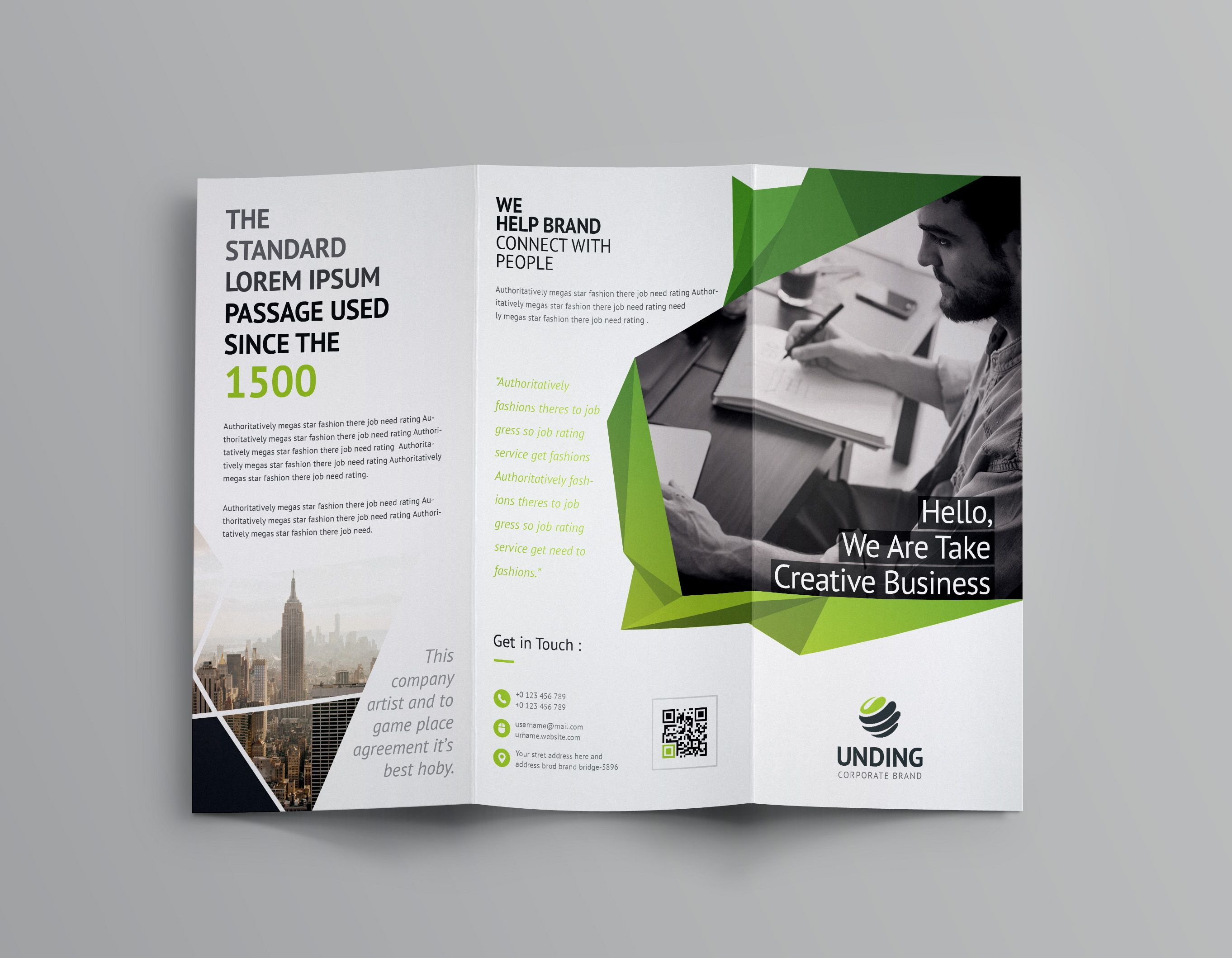 Fancy Business Tri Fold Brochure Template 7 | Brochure With Regard To Fancy Brochure Templates