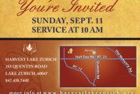 Fascinating Church Invitation Cards Templates Template Ideas intended for Church Invite Cards Template