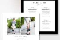Fashion & Beauty Blogger Rate Card Template |Stephanie in Advertising Rate Card Template