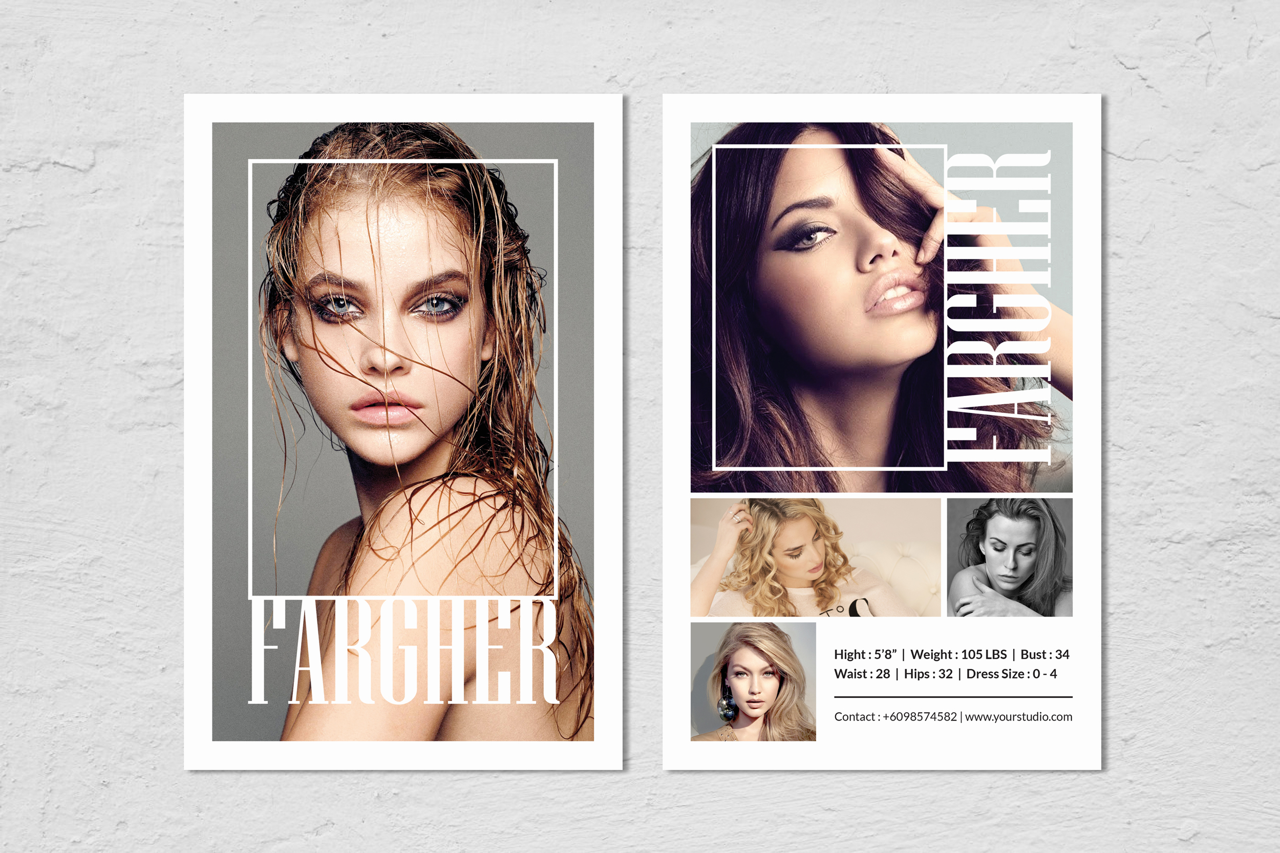 Fashion Modeling Comp Card Template Inside Download Comp Card Template