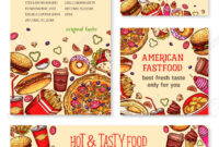 Fast Food Banner And Poster Template Set Design pertaining to Food Banner Template